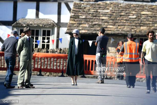Michelle Dockery on the Downton Abbey film set in Lacock Wiltshire