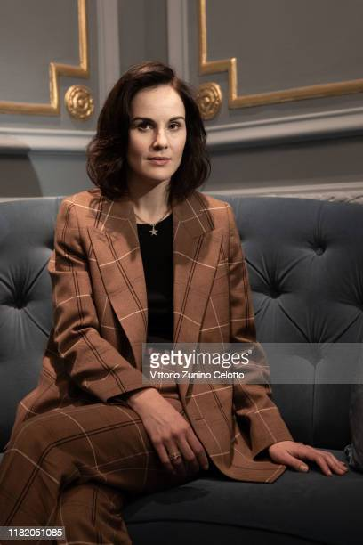 Michelle Dockery poses during the 14th Rome Film Festival on October 19, 2019 in Rome, Italy.