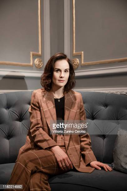 Michelle Dockery poses during the 14th Rome Film Festival on October 19 2019 in Rome Italy