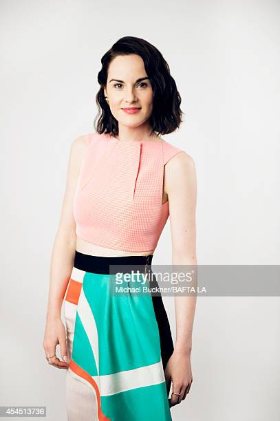 Michelle Dockery poses for a portrait at the BAFTA luncheon on August 23 2014 in Los Angeles California