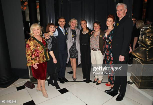 Michelle Dotrice Debbie Chazen Gary Barlow Claire Moore Joanna Riding Claire Machin SophieLouise Dann and Tim Firth of 'The Girls' attend the Olivier...