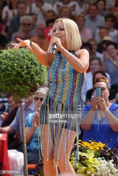 Michelle during the ARD live tv show 'Immer wieder sonntags' at EuropaPark on June 17 2018 in Rust Germany