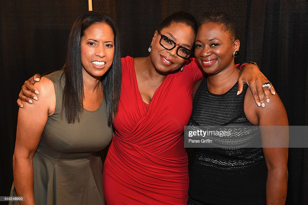Michelle Ebanks, President of ESSENCE Magazine, Oprah Winfrey, and Vanessa K. De Luca is Editor-in-Chief of ESSENCE Magazine pose backstage during the 2016 ESSENCE Festival presented By Coca-Cola at Ernest N. Morial Convention Center on July 2, 2016 in New Orleans, Louisiana.