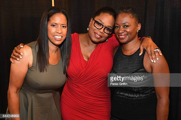 EXCLUSIVE Michelle Ebanks President of ESSENCE Magazine Oprah Winfrey and Vanessa K De Luca is EditorinChief of ESSENCE Magazine pose backstage...