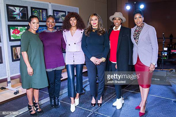Michelle Ebanks Vanessa De Luca Solange Knowles Tina KnowlesLawson Kelly Rowland and Ivy McGregor attend Love On Louisiana An Essence hometown heroes...