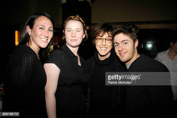 Michelle Elizabeth Hanks Nora Ephron and Jacob Bernstein attend Dinner Party for the Tastemaker Screening of STARTER FOR 10 at Odeon on February 13...