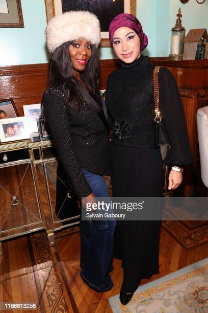 Michelle Ester and Ruia Ahmadzada attend NYC Book Launch of TONI'S ROOM By M Tonita Austin With A Donation To The Lung Cancer Foundation Of America...