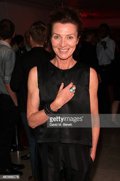 Michelle Fairley attends the after party following the press night performance of Splendour playing at the Donmar Warehouse at The Hospital Club on...