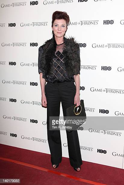 Michelle Fairley attends the DVD launch of the complete first season of 'Game Of Thrones' at Old Vic Tunnels on February 29 2012 in London England