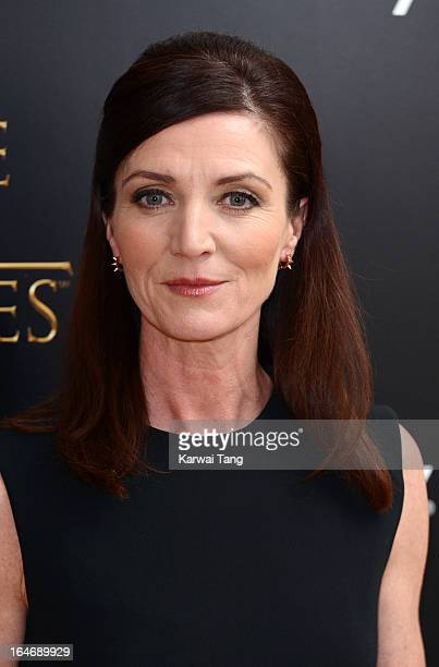 Michelle Fairley attends the season launch of 'Game of Thrones' at One Marylebone on March 26 2013 in London England
