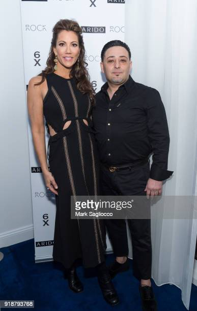 Michelle Falk and Shlomi Maman attend ARIDO Jewelry Presenting ROCK 6X during New York Fashion Week on February 15 2018 in New York City