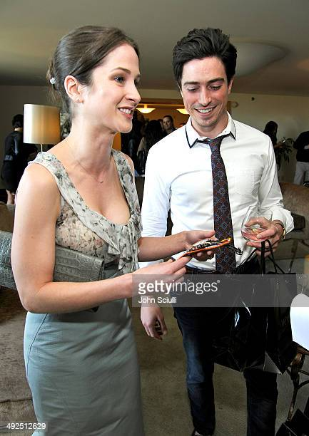 Michelle Feldman and actor Ben Feldman attend the Danny Seo AmericaShare Party presented by Movado at L'Ermitage Beverly Hills Hotel on May 20 2014...