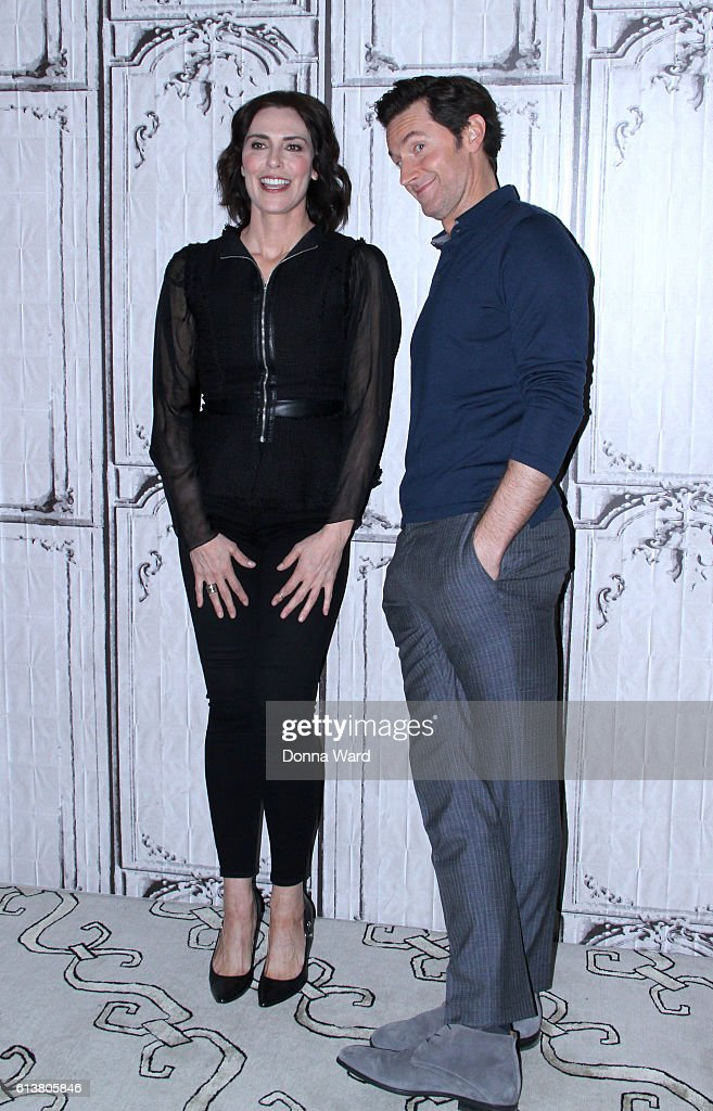 Michelle Forbes and Richard Armitage appear to promote 'Berlin Station' during the BUILD Series at AOL HQ on October 10, 2016 in New York City.
