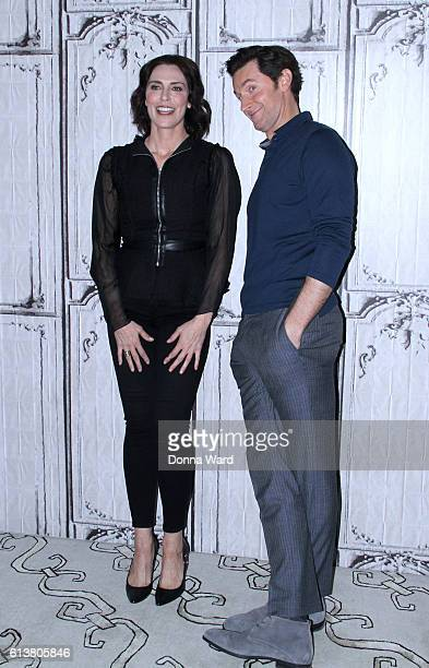 Michelle Forbes and Richard Armitage appear to promote Berlin Station during the BUILD Series at AOL HQ on October 10 2016 in New York City