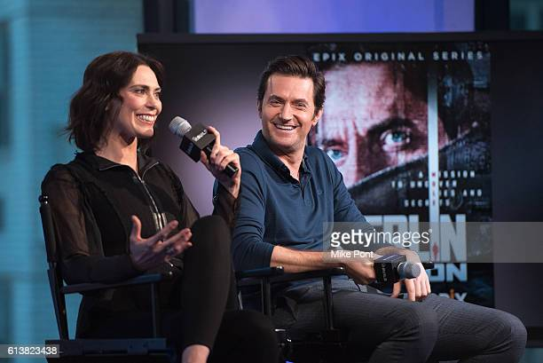 Michelle Forbes and Richard Armitage attend the Build Series to discuss Berlin Station at AOL HQ on October 10 2016 in New York City