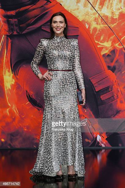 Michelle Forbes attends 'The Hunger Games Mockingjay Part 2' World Premiere on November 04 2015 in Berlin Germany