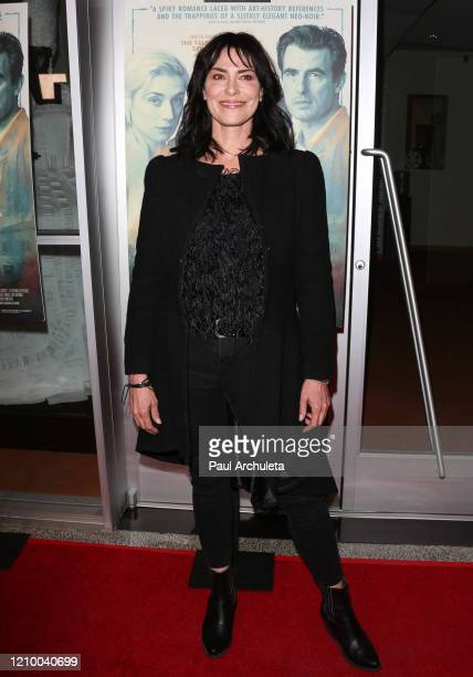 """Michelle Forbes attends the LA special screening of Sony's """"The Burnt Orange Heresy"""" at Linwood Dunn Theater on March 02, 2020 in Los Angeles,..."""