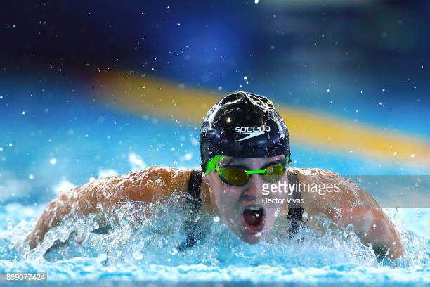 Michelle Franssen of Belgium competes in Women's 100 m Butterfly S14 during day 6 of the Para Swimming World Championship Mexico City 2017 at...