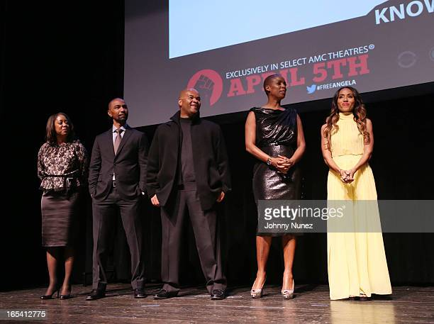 Michelle GadsdenWilliams Quincy Newell Jeff Clanagan Sidra Smith and Jada Pinkett Smith attend the Free Angela and All Political Prisoners New York...