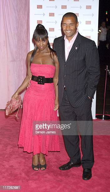 Michelle Gayle and Mark Bright during A Touch Of Pink VIP Fundraising Party at Madame Tussauds in London Great Britain
