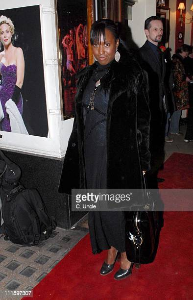 Michelle Gayle during Guys And Dolls VIP performance Red Carpet Arrivals at Piccadilly Theatre in London Great Britain