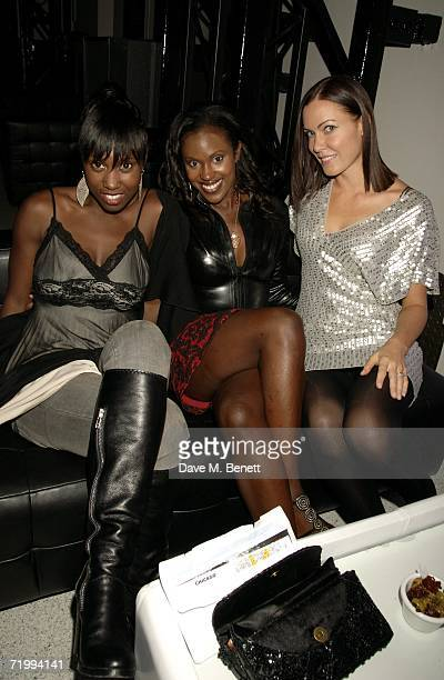 Michelle Gayle Kelle Bryan and Linzi Stoppard attend the after party following Ashlee Simpson's British stage debut playing Roxie Hart in longrunning...