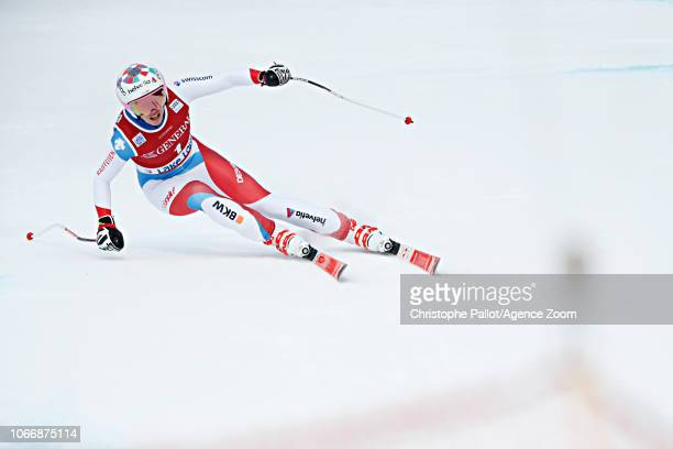 Michelle Gisin of Switzerland competes during the Audi FIS Alpine Ski World Cup Women's Downhill on November 30 2018 in Lake Louise Canada