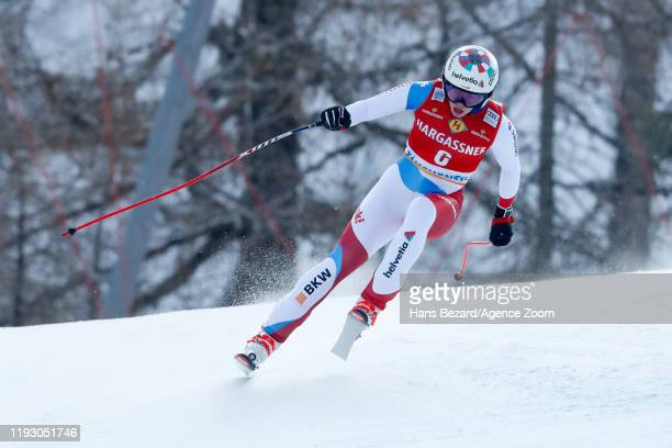 Michelle Gisin of Switzerland competes during the Audi FIS Alpine Ski World Cup Women's Downhill on January 11 2020 in Zauchensee Austria