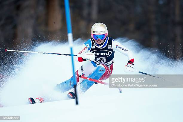 Michelle Gisin of Switzerland competes during the Audi FIS Alpine Ski World Cup Women's Combined on December 16 2016 in Vald'sere France