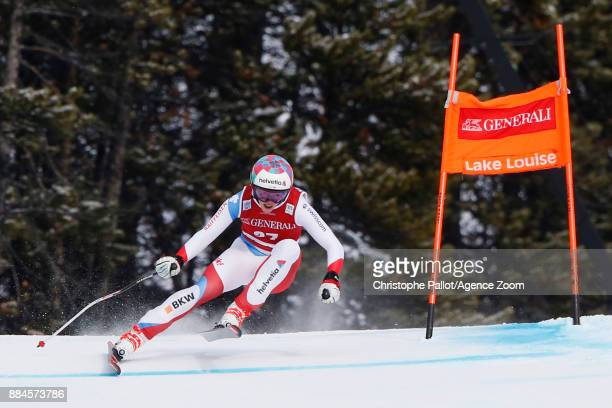 Michelle Gisin of Switzerland competes during the Audi FIS Alpine Ski World Cup Women's Downhill on December 2 2017 in Lake Louise Canada