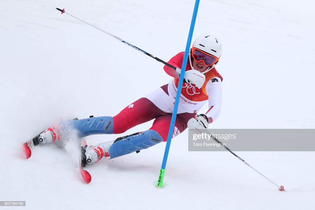 KOR: Alpine Skiing - Winter Olympics Day 13