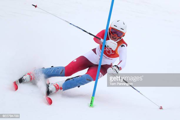Michelle Gisin of Switzerland competes during the Ladies' Alpine Combined on day thirteen of the PyeongChang 2018 Winter Olympic Games at Yongpyong...
