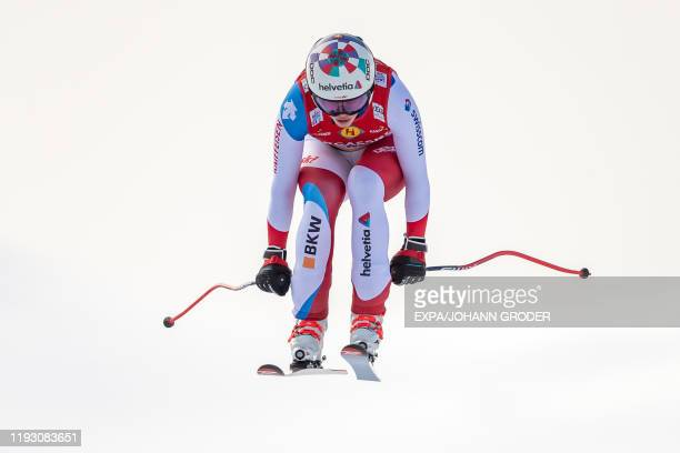 Michelle Gisin of Switzerland competes during the ladie's downhill event at the FIS ski alpine World Cup at the Keelberloch race track in Zauchensee...