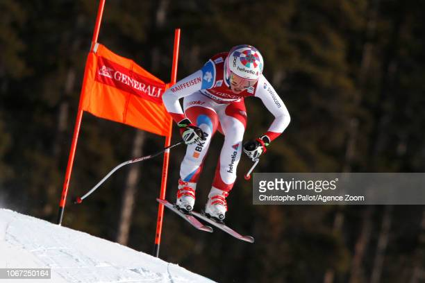 Michelle Gisin of Switzerland in action during the Audi FIS Alpine Ski World Cup Women's Downhill on December 1 2018 in Lake Louise Canada