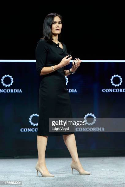 Michelle Giuda, Assistant Secretary of State for Global Affairs, U.S. Department of State, speaks onstage during the 2019 Concordia Annual Summit -...