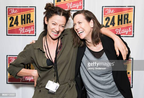 Michelle Gomez and Miriam Shor attend 24 Hour Plays on Broadway at American Airlines Theatre on October 30 2017 in New York City