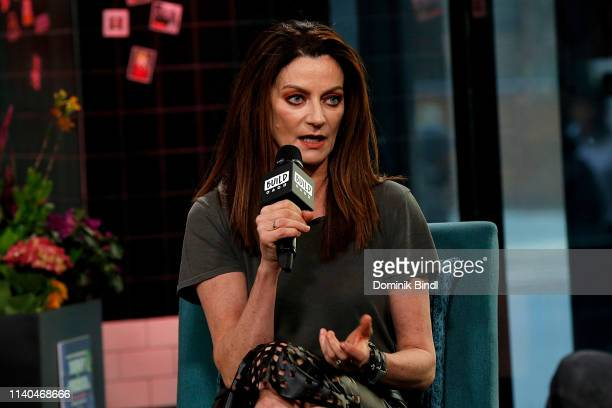 Michelle Gomez attends the Build Series to discuss 'Chilling Adventures of Sabrina' at Build Studio on April 04 2019 in New York City