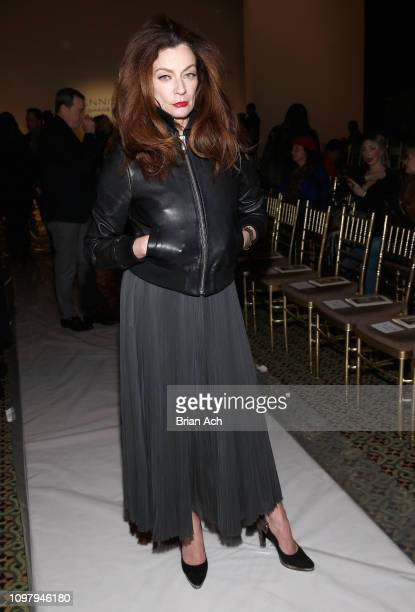 Michelle Gomez attends the Dennis Basso front row during New York Fashion Week The Shows at Cipriani 42nd Street on February 11 2019 in New York City