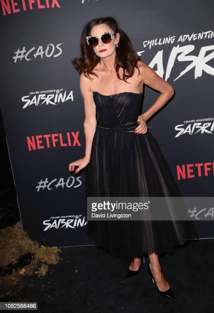 Michelle Gomez attends the premiere of Netflix's Chilling Adventures of Sabrina at Hollywood Athletic Club on October 19 2018 in Hollywood California