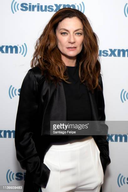 Michelle Gomez visits SiriusXM Studios on April 02 2019 in New York City