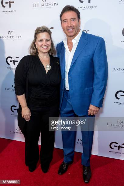 Michelle Green with the Beverly Hills Chamber of Commerce and Dr Garth Fisher MD attend the Official Launch Party Of Dr Garth Fisher's BioMed Spa at...
