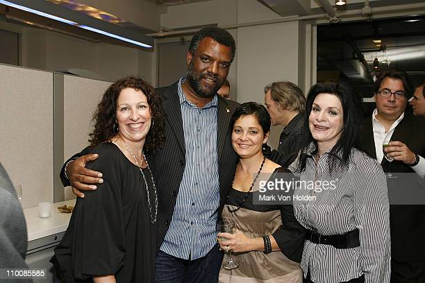 Michelle Gulliani Merl Saunders of the Recording Academy San Francisco Lisa Zahn of the Recording Academy and Buzz Publicity's Ellyn Harris attends...