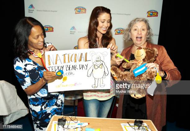 Michelle Hall Duncan CEO and President encourage Kids Foundation Shannon Elizabeth and Diane Rode Assistant Professor at Mt Sinai attends Teddy Bear...
