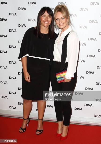 Michelle Hardwick and guest at the DIVA Magazine Awards at the The Waldorf Hilton Aldwych London