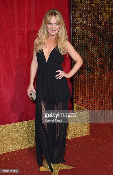 Michelle Hardwick arrives for the British Soap Awards 2016 at the Hackney Town Hall Assembly Rooms on May 28 2016 in London England