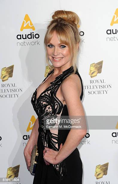 Michelle Hardwick arrives for The Royal Television Society Programme Awards at The Grosvenor House Hotel on March 22 2016 in London England