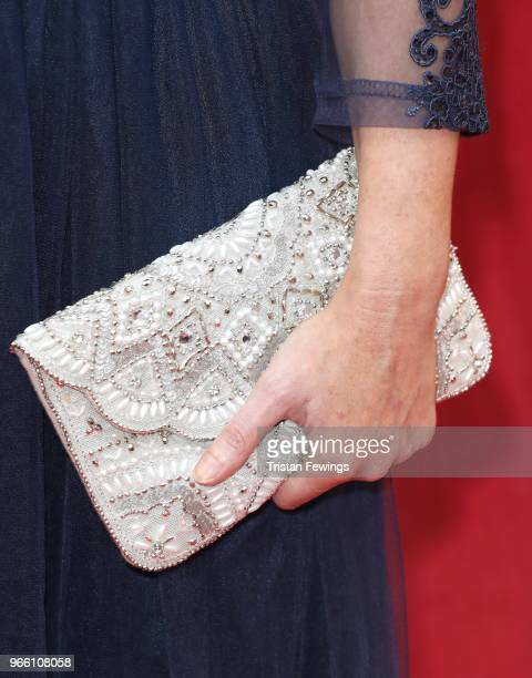 Michelle Hardwick purse detail at the British Soap Awards 2018 at Hackney Empire on June 2 2018 in London England