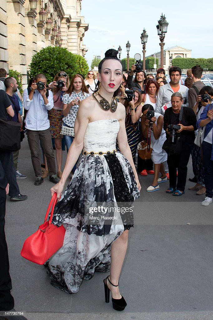 Michelle Harper attends the Giambattista Valli Haute-Couture Show as part of Paris Fashion Week Fall / Winter 2013 at Hotel Crillon on July 2, 2012 in Paris, France.