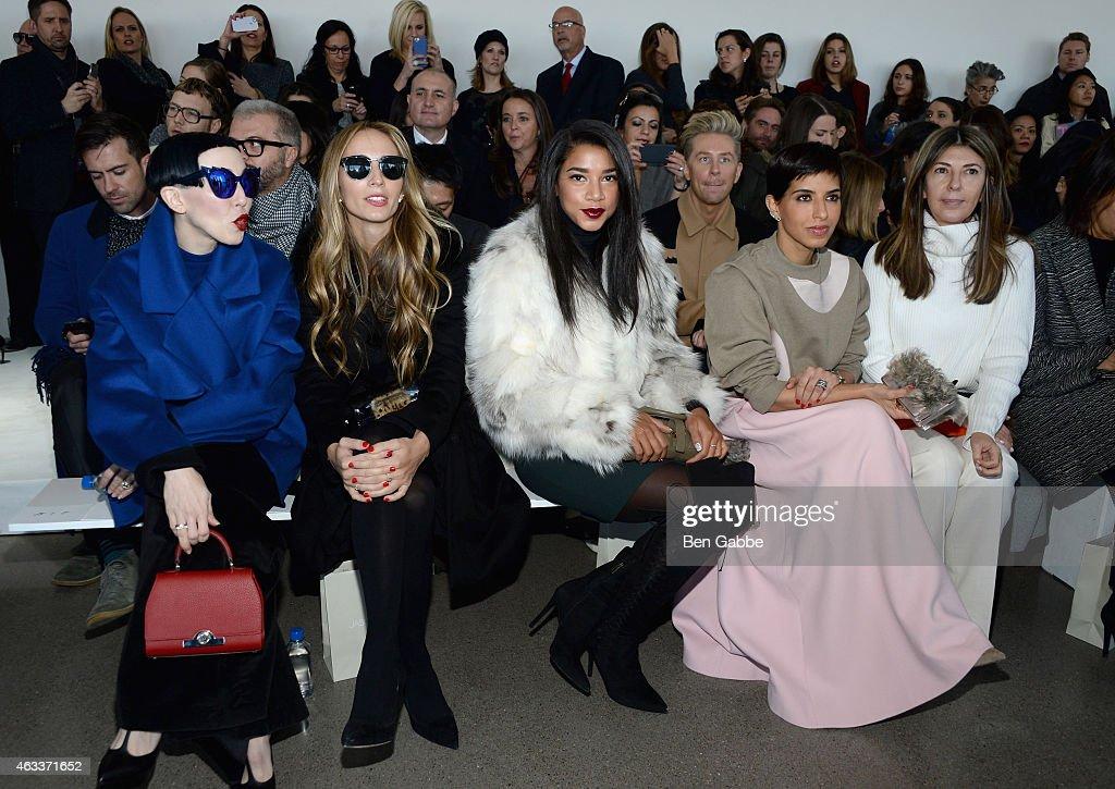 Michelle Harper, Harley Viera-Newton, Hannah Bronfman, Princess Deena Aljuhani Abdulaziz, and Nina Garcia attend the Jason Wu fashion show during Mercedes-Benz Fashion Week Fall 2015 at Spring Studios on February 13, 2015 in New York City.