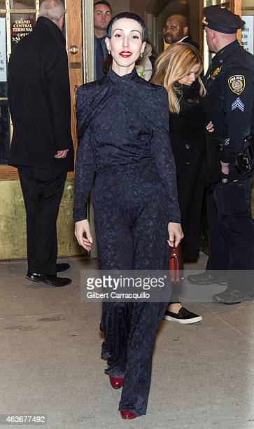Michelle Harper is seen arriving at Zac Posen fashion show during MercedesBenz Fashion Week Fall 2015 at Vanderbilt Hall at Grand Central Terminal on...
